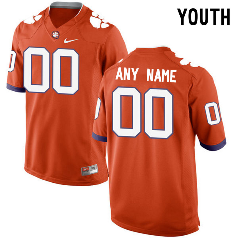 2016 Youth Clemson Tigers Customized College Football Limited Jersey Orange