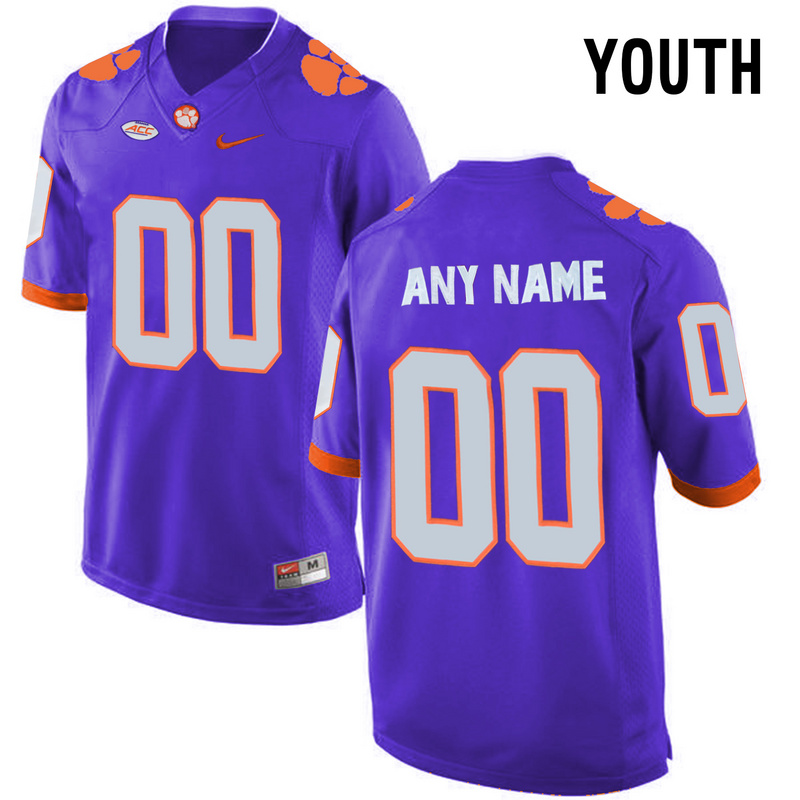 2016 Youth Clemson Tigers Customized College Football Limited Jersey Purple