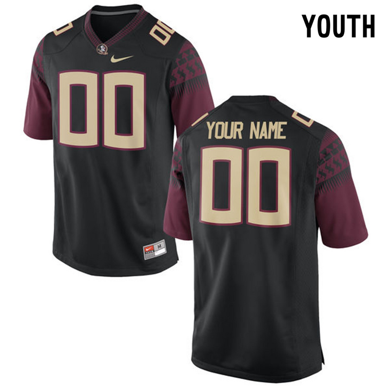 2016 Youth Florida State Seminoles Customized College Football Limited Jersey Black
