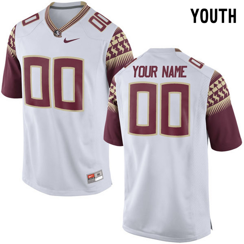2016 Youth Florida State Seminoles Customized College Football Limited Jersey White