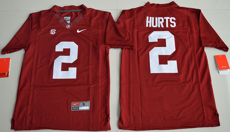 2016 Youth NCAA Alabama Crimson Tide 2 Jalen Hurts Crimson College Football Limited Jerseys