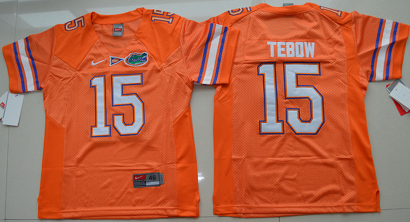 2016 Youth NCAA Florida Gators 15 Tim Tebow Orange College Football Jersey