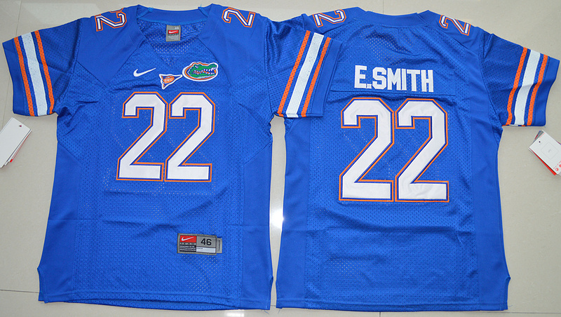 2016 Youth NCAA Florida Gators 22 E.Smith Royal Blue College Football Jersey
