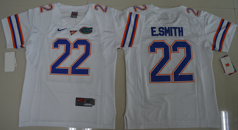 2016 Youth NCAA Florida Gators 22 E.Smith White College Football Jersey