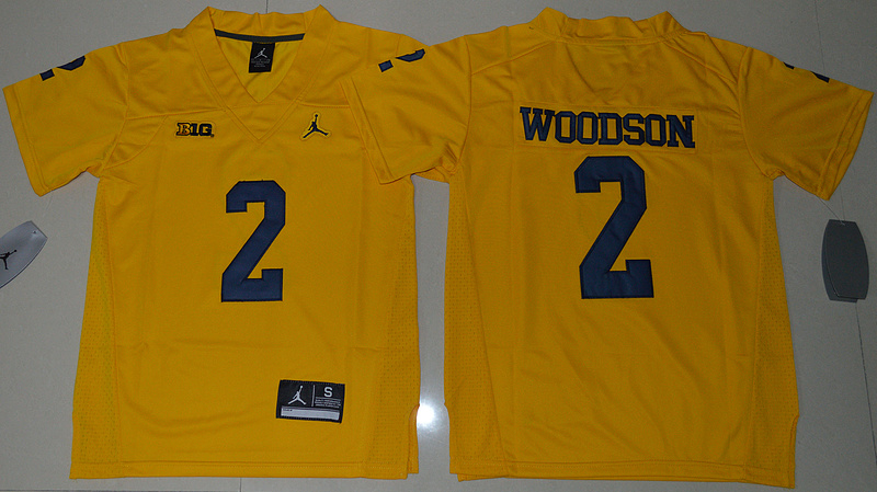 2016 Youth NCAA Jordan Brand Michigan Wolverines 2 Desmond Howard Yellow College Football Limited Jersey