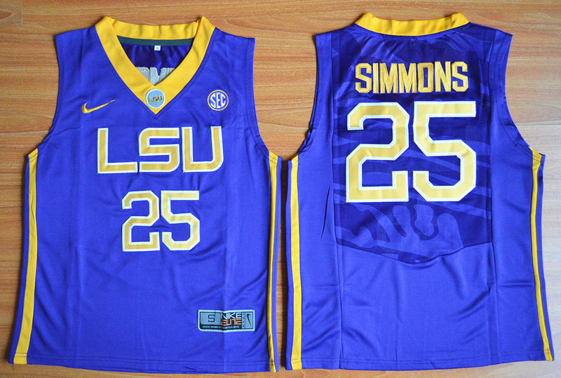 2016 Youth NCAA LSU Tigers 25 Ben Simmons Purple College Basketball Jersey