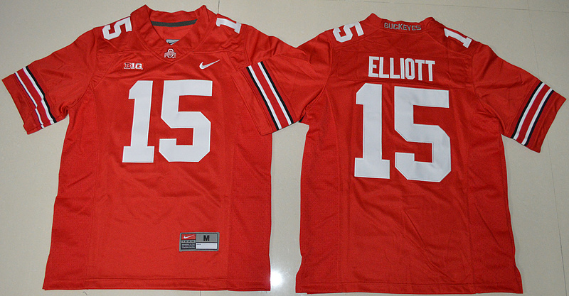 2016 Youth NCAA Ohio State Buckeyes 15 Ezekiel Elliott Red College Football Jersey
