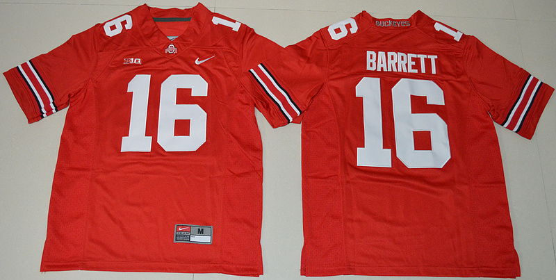 2016 Youth NCAA Ohio State Buckeyes 16 J.T. Barrett Red College Football Jersey