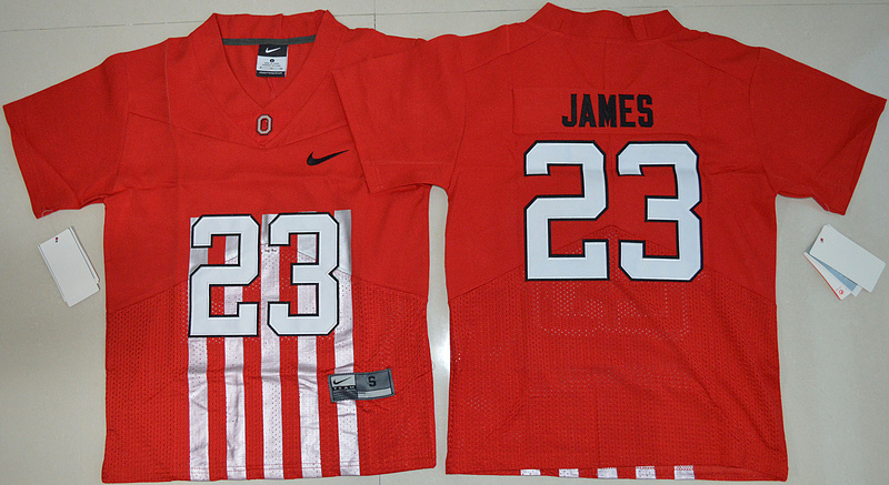 2016 Youth NCAA Ohio State Buckeyes 23 Lebron James Red College Football Alternate Elite Jersey