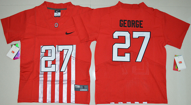 2016 Youth NCAA Ohio State Buckeyes 27 Eddie George Red College Football Alternate Elite Jersey