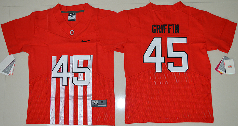 2016 Youth NCAA Ohio State Buckeyes 45 Archie Griffin Red College Football Alternate Elite Jersey