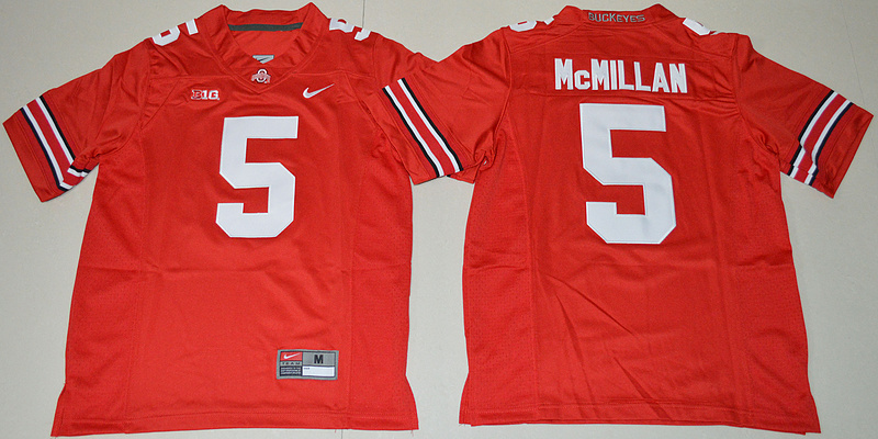 2016 Youth NCAA Ohio State Buckeyes 5 Raekwon McMillan Red College Football Jersey