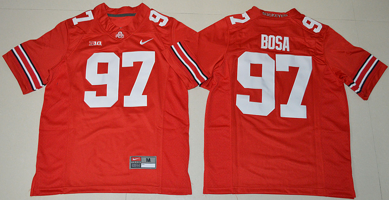 2016 Youth NCAA Ohio State Buckeyes 97 Nick Bosa Red College Football Jersey