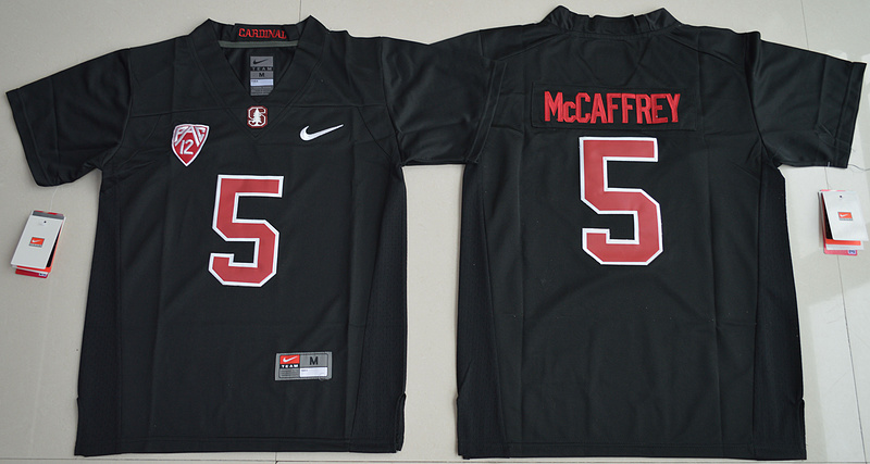 2016 Youth NCAA Stanford Cardinal 5 Christian McCaffrey Blackout College Football Jersey