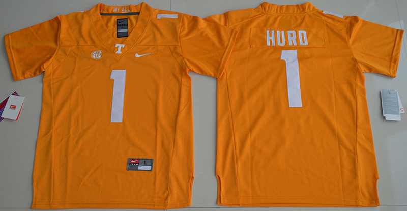 2016 Youth NCAA Tennessee Volunteers 1 Jalen Hurd Orange College Football Jersey