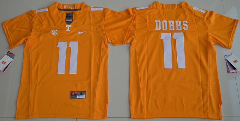 2016 Youth NCAA Tennessee Volunteers 11 Joshua Dobbs Orange College Football Jersey