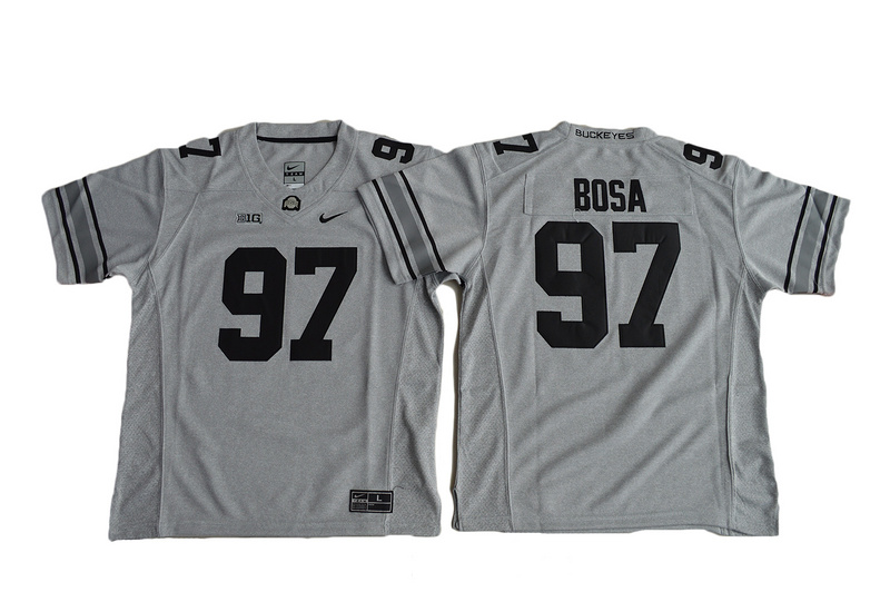 2016 Youth Ohio State Buckeyes Joey Bosa 97 College Football Jersey - Gridion Grey