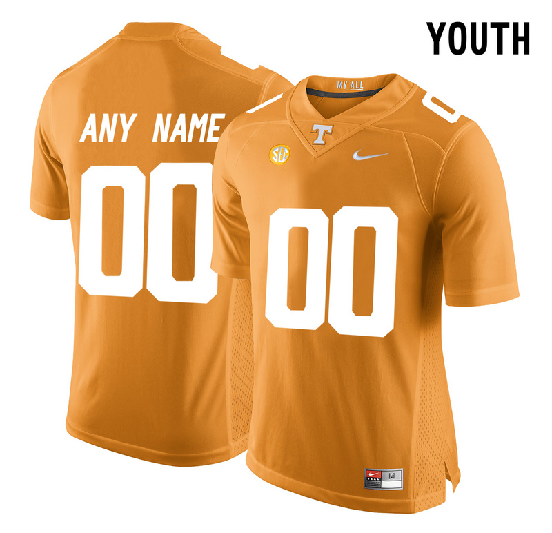 2016 Youth Tennessee Volunteers Customized College Football Limited Jersey Orange