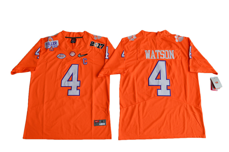 2017 Men Clemson Tigers DeShaun Watson 4 Diamond Quest Limited Jersey - Orange