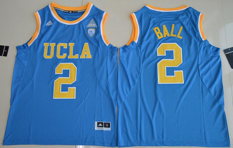 9d6e93da0 2017 NBA NCAA UCLA Bruins 2 Lonzo Ball Blue College Basketball Authentic  Jersey