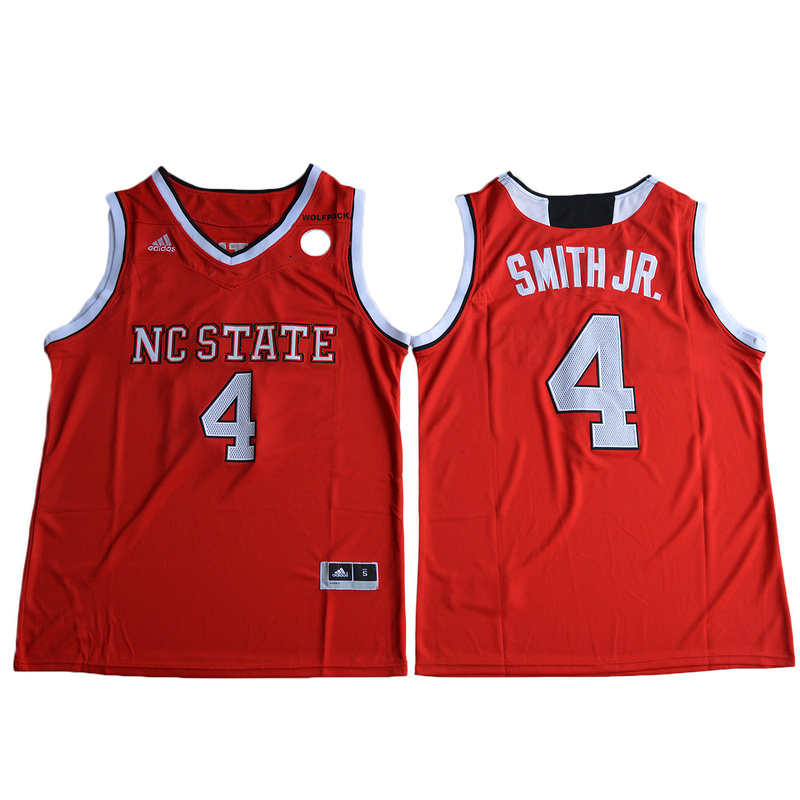 2017 NC State Wolfpack Dennis Smith Jr. 4 College Basketball Jersey - Red