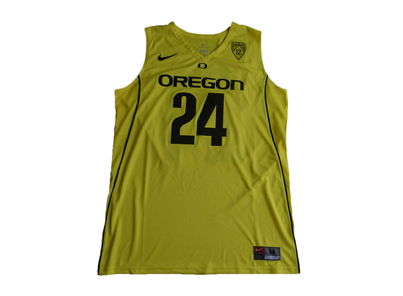 2017 Oregon Ducks Dillon Brooks 24 College Basketball Jersey - Yellow