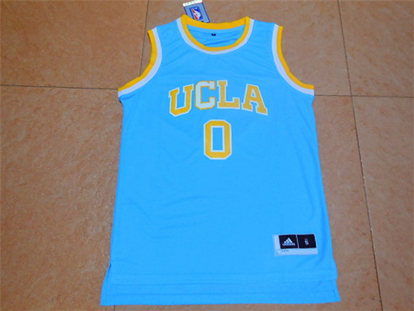 2017 UCLA Bruins 0 Westbrook Blue College Basketball Authentic Jersey