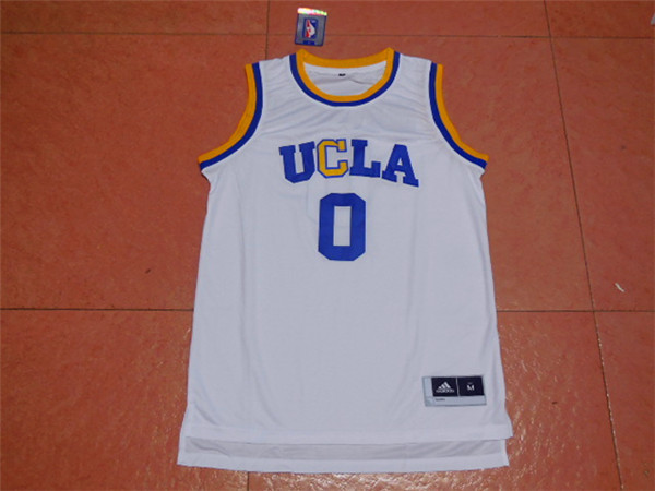 2017 UCLA Bruins 0 Westbrook White College Basketball Authentic Jersey