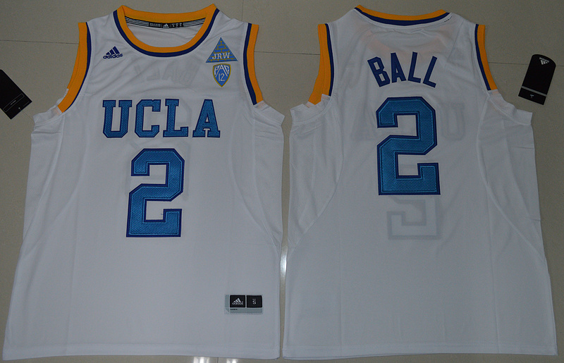 2017 UCLA Bruins Lonzo Ball 2 College Basketball Authentic White Jersey