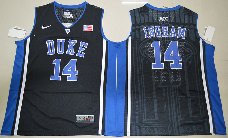 Duke Blue Devils Brandon Ingram 14 V Neck College Basketball Elite Jersey - Black