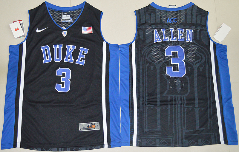 Duke Blue Devils Garyson Allen 3 V Neck College Basketball Elite Jersey - Black
