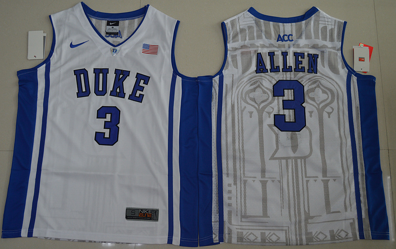 Duke Blue Devils Garyson Allen 3 V Neck College Basketball Elite Jersey - White