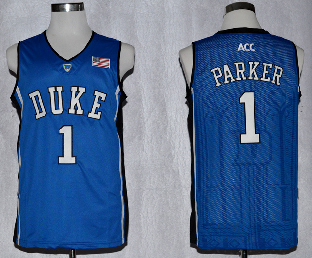 Duke Blue Devils Jabari Parker 1 ACC Patch NCAA Authentic Basketball Performance Jersey - Duke Blue