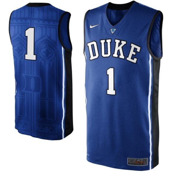 Duke Blue Devils Jabari Parker 1 NCAA Authentic Basketball Performance Jersey - Duke Blue (1)