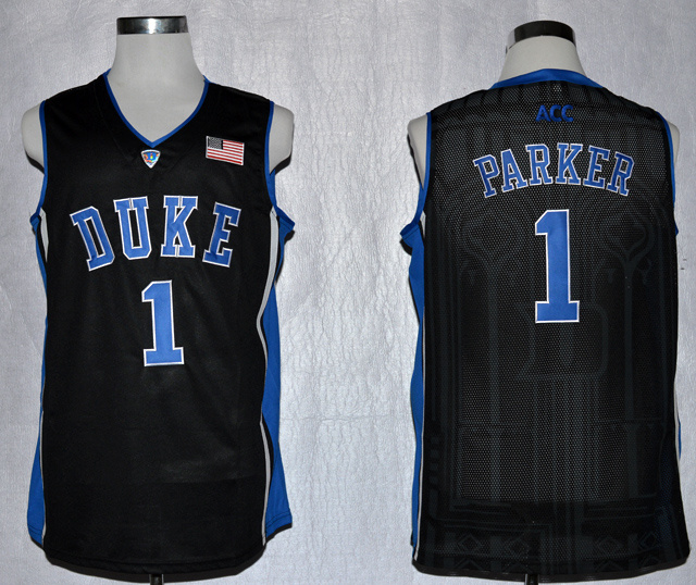 Duke Blue Devils Jabari Parker 1 NCAA Authentic Basketball Performance Jersey - Duke Blue (2)