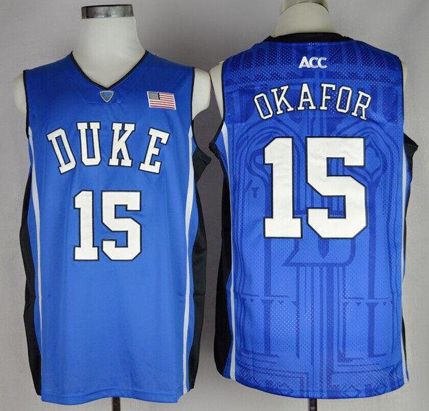 Duke Blue Devils Jahlil Okafor 15 College Basketball Jersey - Duke Blue