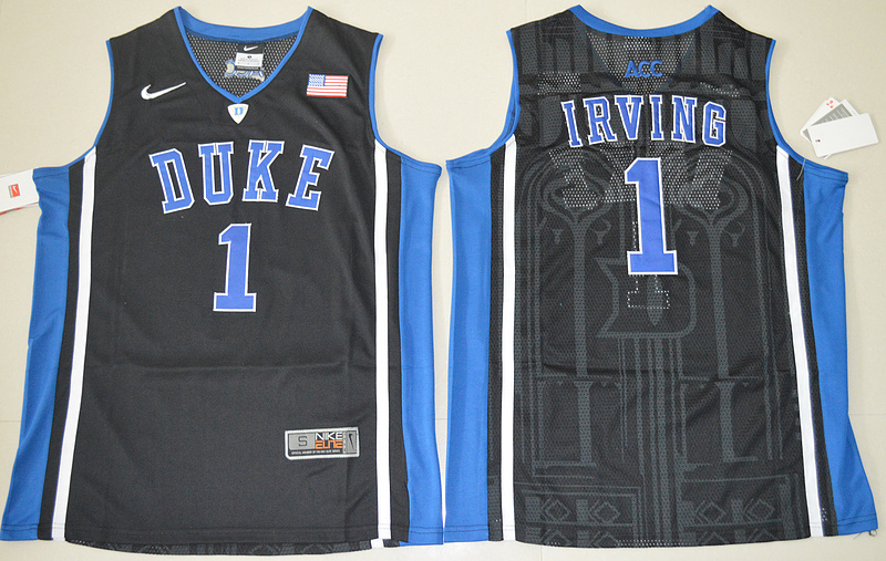 Duke Blue Devils Kyrie Irving 1 V Neck College Basketball Elite Jersey - Black