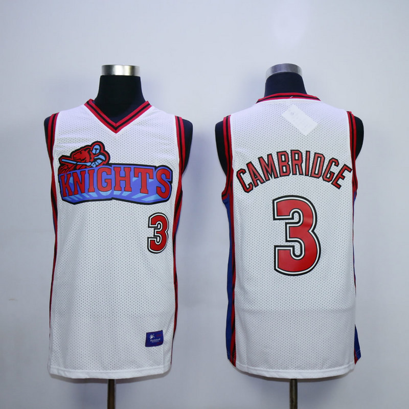 Like Mike Movie Los Angeles Knights 3 Calvin Cambridge White Jerseys.