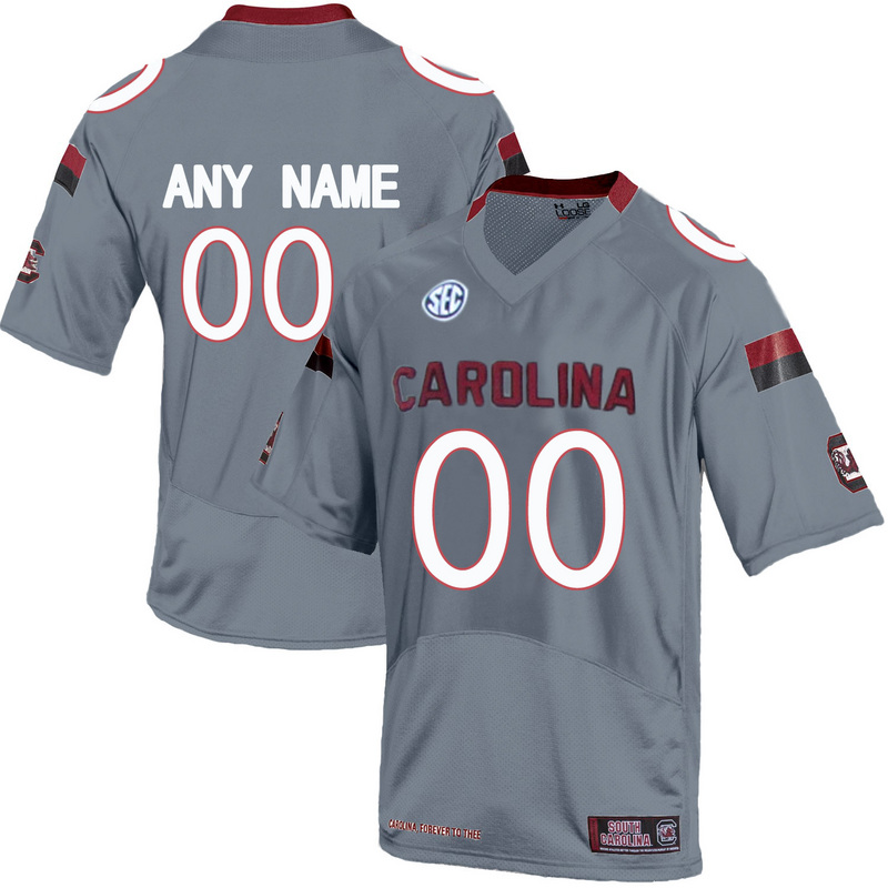 Men South Carolina Gamecocks Customized College Football Jersey Grey