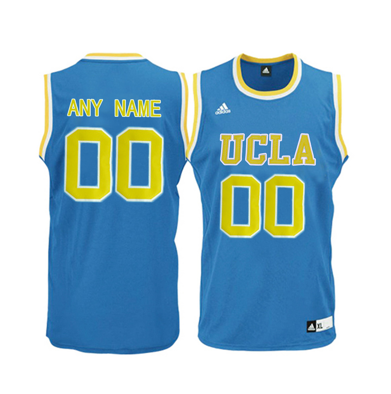 Men UCLA Bruins Customized Blue College Basketball Jersey Blue