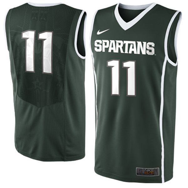 Michigan Stata Spartans Keith Appling 11 NCAA Authentic Basketball Jerseys - Green