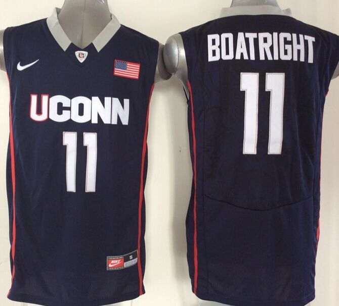 NBA NCAA Uconn Huskies 11 Boatright blue Jersey