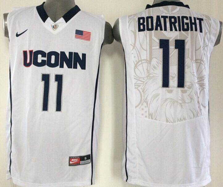 NBA NCAA Uconn Huskies 11 Boatright white Jersey
