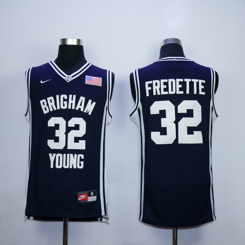 NCAA 32 Jimmer Fredette Blue Brigham Young Cougars Jersey