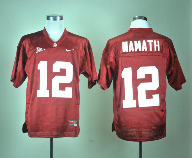 NCAA Alabama Crimson Tide 12 Joe Namath Crimson Nike College Football Jersey
