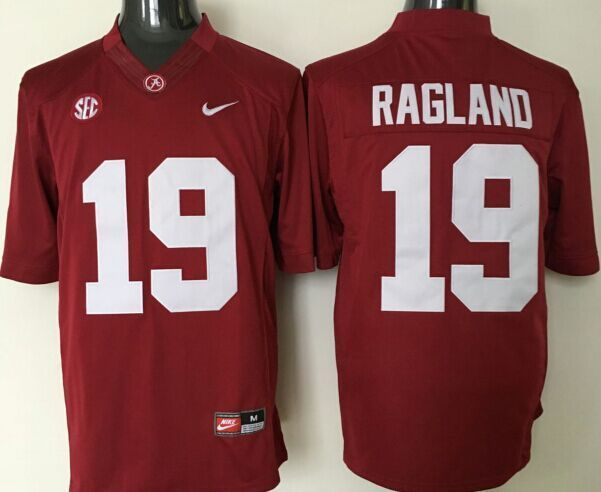 NCAA Alabama Crimson Tide 19 Ragland red jerseys