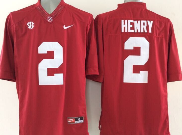 NCAA Alabama Crimson Tide 2 Derrick Henry Red limited 2015 Jerseys