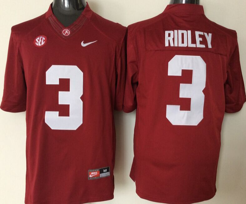 NCAA Alabama Crimson Tide 3 Ridley red jerseys