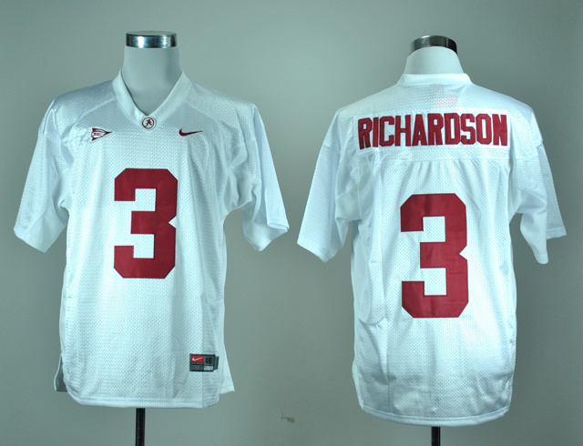NCAA Alabama Crimson Tide 3 Trent Richardson White Nike College Football Jersey