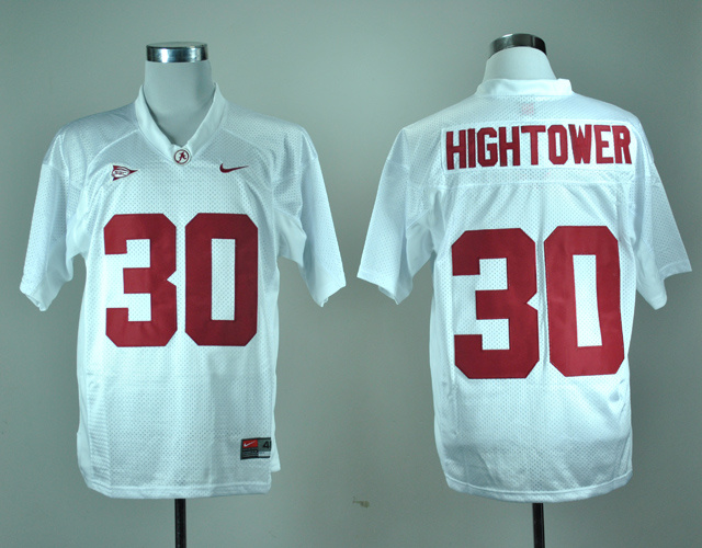 NCAA Alabama Crimson Tide 30 Dont'a Hightower White Nike College Football Jersey